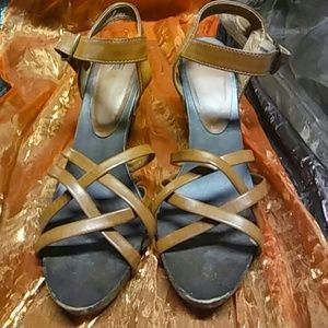 H&M Chunky Wooden Heels